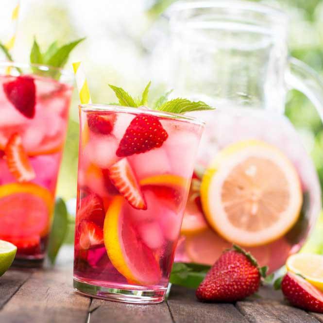 Cócteles con fruta