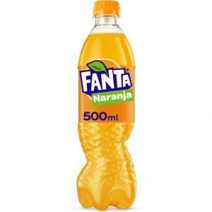 Refresco  naranja fanta pet 50cl