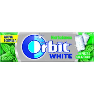 Chicles sin azucar hierbabuena orbit white  14g