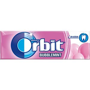 Chicles sin azucar bubblemint orbit  10grageas