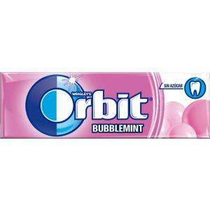 Chicles sin azucar bubblemint orbit  10grageas