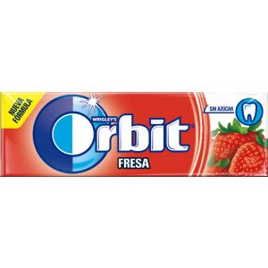 Chicles sin azucar fresa orbit 10 grageas