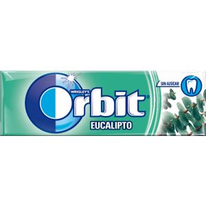 Chicles sin azucar eucalipto orbit 10 grageas