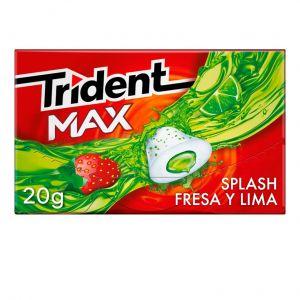 Chicles sin azucar fresa-lima trident max  23g