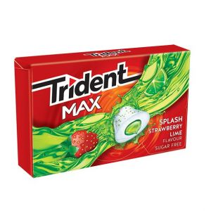 Chicles sin azucar fresa-lima trident max  23g