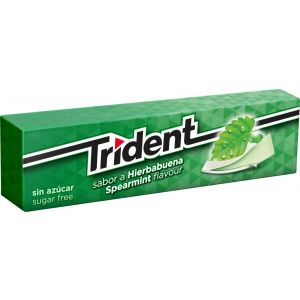 Chicles sin azucar clorofila trident  13,5g