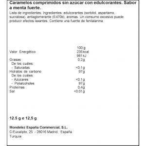 Caramelos comprimidos menta halls  12,5g