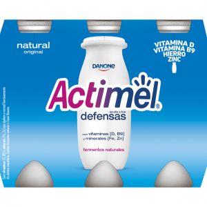 Bebida lactea natural actimel p-6x100g
