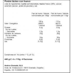 Flan de huevo dhul p4x110g