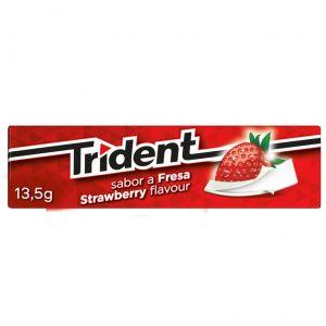 Chicles sin azucar fresa trident  13,5g