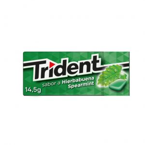 Chicles sin azucar hierbabuena trident  14,5g