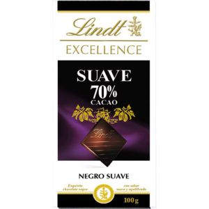 Chocolate negro suave 70% excellent lindt 100g