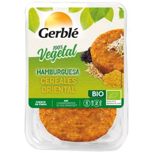 Hamburguesa vegetal bio de cereales estilo oriental gerblé 160g
