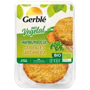 Hamburguesa vegetal bio cereales jardinera gerblé 160g