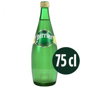 Agua mineral con gas perrier botella 75cl