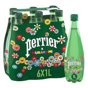 Agua mineral con gas perrier botella 1,5l