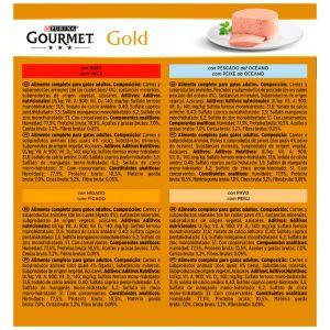Comida gato mousse mix gourmet gold p8x 85g