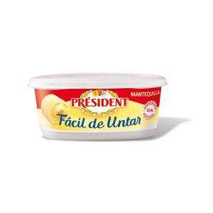 Mantequilla sin sal facil untar president tarrina 250g