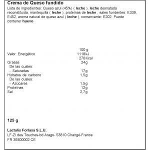 Crema de queso azul president 125g