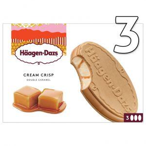 Helado cream crips de caramelo haagen dazs p3x90ml