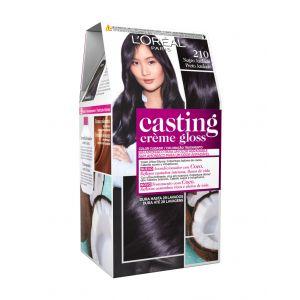 Coloración casting crème gloss negro azulado 210 l'oréal paris