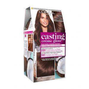 Coloración casting crème gloss castaño helado 415 l'oréal paris