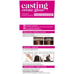 Baño de color castaño/cl 500 casting   ud