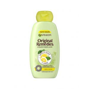 Champú original remedies arcilla suave y limón garnier 300 ml