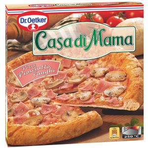 Pizza prosciutto funghi casa di mama  380g