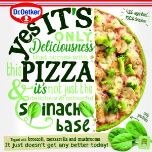 Pizza  espinaca dr.oetker 345g