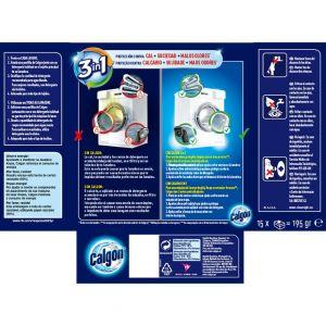 Limpiamáquina antical 2 en 1 calgon 15 pastillas