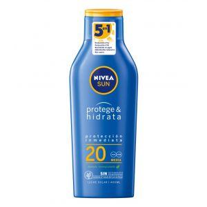 Bronceador leche f20 protege e hidrata  nivea 400ml