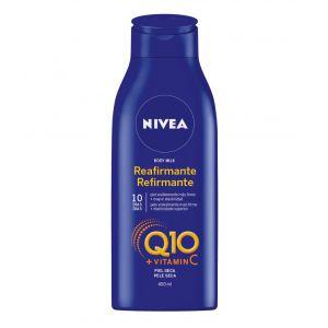 Body milk reafirmante q10 piel seca nivea 400 ml