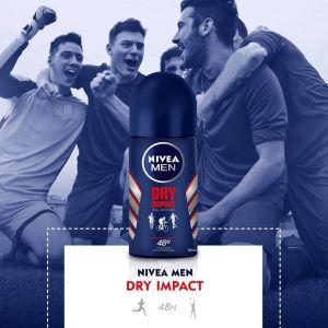 Desodorante roll-on para hombre dry impact nivea men 50ml