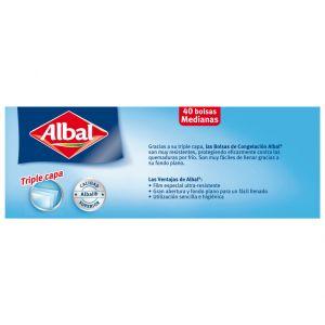Bolsa de congelacion albal 40 ud