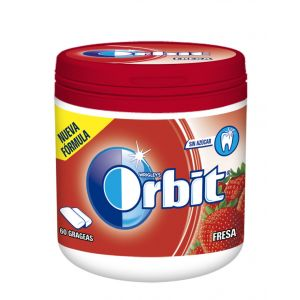Chicles sin azucar fresa orbit bote 60grageas