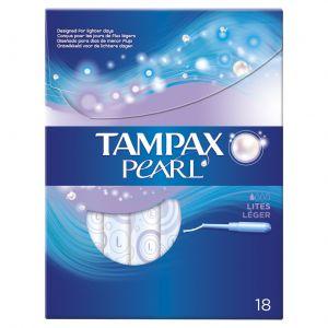 Tampon lites pearl tampax 18ud