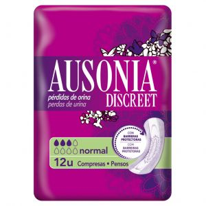 Compresas incontinencia normal ausonia discreet 12ud