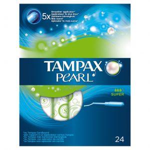 Tampon super pearl tampax 24ud