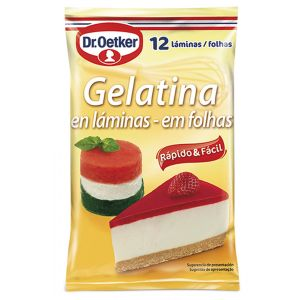 Gelatina en láminas dr.oetker 12ud de 20g