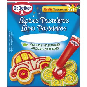 Lápices pasteleros dr.oetker 57g