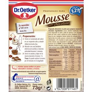 Mousse de chocolate dr.oetker 65g