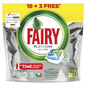 Lavavajillas máquina pastilla fairy platinum 16+3 dosis