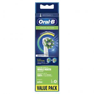 Recambio cacbezal cepillo electrio oral b cross action pack 4 uds