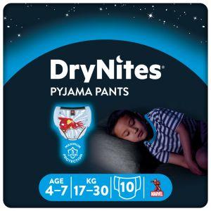 Pañal niño 4-7años dry nites convenience 10 ud