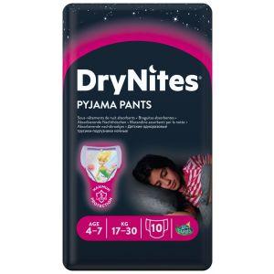 Pañal niña 4-7años dry nites convenience 10 ud