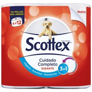Papel higienico gigante scottex 4 rollos
