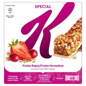 Barritas de frutos rojos special k kellogg's p6x25g