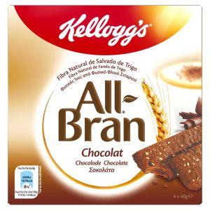 Barrita de fibra con chocolate all bran kellogg's p6x40g