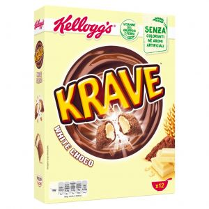 Cereales krave choco blanco kellogs 375g